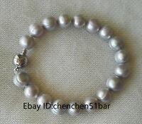 kultiviert 10-11mm grau Süßwasser Perle Armband,8inch