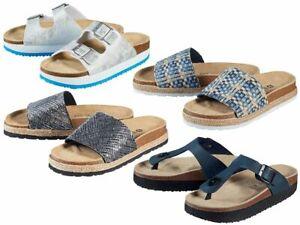 ESMARA Damen Pantoletten Sandaletten Lederdecksohle Schlappen Schuhe 37 / 41 NEU