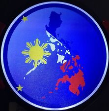 Philippine Map Light Up Decal Powerdecal Backlit LED Motion Sensing Auto Decal
