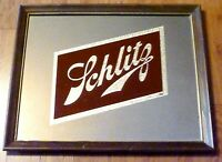 "Vintage 22"" X 18"" JOSEPH SCHLITZ BEER Advertising WALL MIRROR SIGN Breweriana"