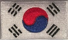 South Korea Flag Small Iron On / Sew On Patch Badge 6 x 3.5cm ROK AIRSOFT