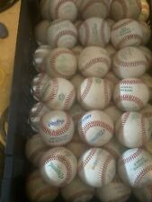 20 Used Leather Baseballs