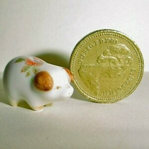China Piggy Bank Floral, Handcrafted, Imported From UK