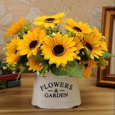 7 Heads Artificial Sunflowers Fake Flower Floral Bouquet Home Garden Shop Decor