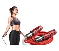 Adjustable Fitness Sports Skip Rope Heavy Weighted Jump Rope Metal Cable Bearing