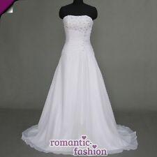 ♥ vestido de novia vestido de bodas en blanco talla 34-54 para la selección nuevo + chifón +w074 ♥