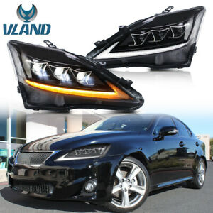 VLAND Full LED Replace Headlights For 2006-2013 LEXUS IS250 IS350 2008-2015 ISF