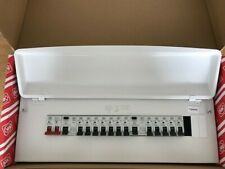 MK CONSUMER UNIT METAL CLAD 15 WAY SPLIT LOAD FULLY POPULATED 12 MCB'S Y7678sMET