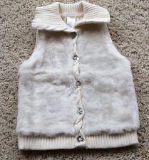 Gymboree Snowflake Faux Fur White Vest, Coat, Jacket Size 3-4