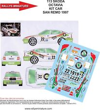 DECALS 1/24 REF 0113 SKODA OCTAVIA KIT CAR TRINER RALLY ITALIA SAN REMO 1997 WRC