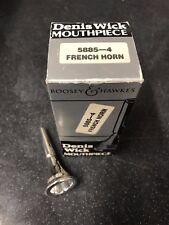 DENIS WICK 4 French Horn Mouthpiece-Neuf, non utilisé Plaqué Argent -