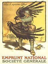 PROPAGANDA WAR FRANCE LOAN SOLDIER GERMAN EAGLE STRANGLE ART POSTER PRINT LV7215