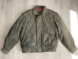 Mirage 1980s Vintage Brown Suede Leather Jacket size XL