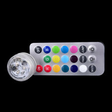 Submersible Light 3Led Battery Waterproof Pool Pond Lighting Remote Control H2S