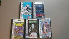 Sega Saturn Game Lot Of 5 Sim City, Minnesota Fats, Virtua Fighter