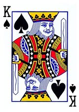 KING OF SPADES PLAYING CARD  IRON ON T SHIRT TRANSFER