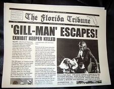 CREATURE from the BLACK LAGOON Horror Newspaper Prop Universal Monster Coastal