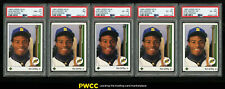 Lot(5) 1989 Upper Deck Ken Griffey Jr. ROOKIE RC #1, ALL PSA 6 7 8 (PWCC)