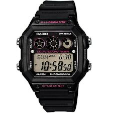 Casio AE-1300WH-1A2 Black Youth Series Digital Unisex Chronograph Sports Watch