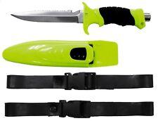 Profi Tauchermesser Rettungsmesser Taucher Messer mit Holster FOX  gelb-schwarz