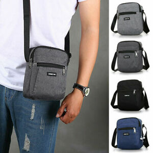 Men's Messenger Bag Waterproof Cross Body Shoulder Utility Travel Work Bag Gifts