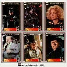 *Australia Release--Batman Returns Movie (Dynamic 1992) Base Card Set (150)-Rare