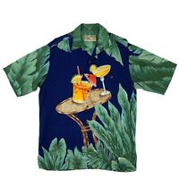 Vintage Tori Richard Hawaiian Shirt Men's Size M Short Sleeve Made in USA 90s