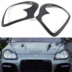 MG Eyebrow Set Lamp Spoiler Kit Eye Lid Spoilers (Fits Porsche Cayenne 955)
