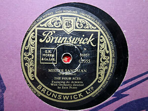 FOUR ACES - Mister Sandman / I'll Be With You In Apple Blossom Time 78 rpm disc