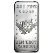10 oz Silver Bar - Secondary Market - SKU #21