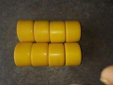 Vintage Roller Skate Wheels  Full Set of 8 yellow