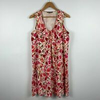 Yarra Trail Womens Dress Size 10 Multicoloured Floral Sleeveless Round Neck