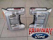 17 Super Duty F-250 F-350 OEM Ford LED Head Lamps Lights with Bulbs LH & RH PAIR
