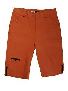 Jamie Sadock Shorts Womens Size 8 M Below Knee Bermuda Stretch Orange Rust Med