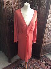 Boden Ladies Linen & Silk Long Line Cardigan. Coral. Size 18