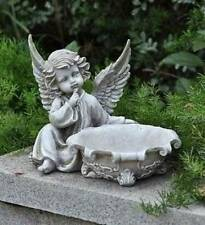 Ornate Bowl WHISPERING CHERUB ANGEL BIRDFEEDER BIRD FEEDER Perfect for the Patio