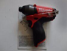 MILWAUKEE 2453-20 M12 12V 12 Volt Li-Ion Fuel 1/4
