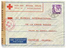 NED INDIE DUTCH INDIES 1941-1-6 RED CROSS-CENSOR PM-BATAVIA-TO SWITZERLAND