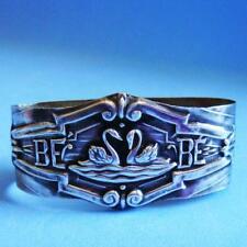 L@@k Beautiful Vintage Sterling SILVER Birds Swans Swimming Napkin Ring!