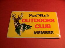 FRED TROST 'S MICHIGAN OUTDOORS CLUB MEMBER DEER & BASS FISH STICKER DECAL NEW