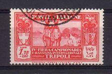 LIBIA 1930 4° Fiera di Tripoli 1,75+0,2L USATO (EN)