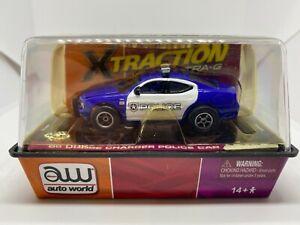 Auto World - '06 Dodge Charger Police Car - Blue - HO Slot Car