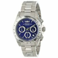 Invicta Men's Watch Speedway Chrono Blue Dial Stainless Steel Bracelet 14382