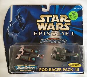Micro Machines Star Wars Pod Racer Pack 3 - Pod Racing - Retro Boxed
