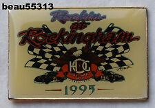 1995 HARLEY DAVIDSON HOG ROCKIN AT ROCKINGHAM RACING JACKET VEST HAT PIN