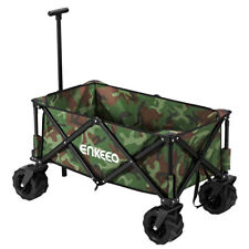 100kg Heavy Duty Folding Garden Trolley Cart Utility Wagon 4wheel Buggy Shopping