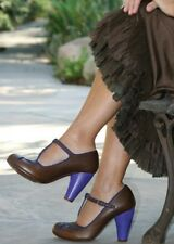 chie mihara blue and brown pumps 40 Calipso $325