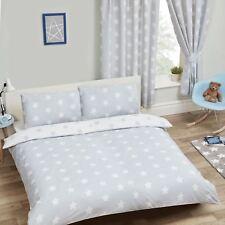Gris et blanc étoiles double Ensemble de couverture & taie d'oreiller COUETTE