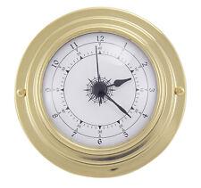 Maritime Quartz Uhr in Messing - Boot Schiff Yacht Instrument - sc-9400