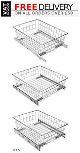 Pull Out Wire Basket Drawer Soft Close Full Extension Wardrobe Storage Organiser